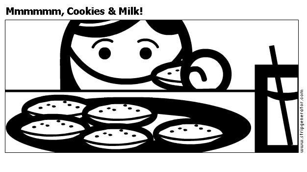 Mmmmmm, Cookies & Milk!