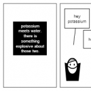 potassium meets water