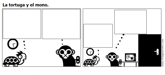 La tortuga y el mono.