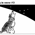 Dog in snow #3
