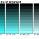 Advanced Color Chart: Blue at Background