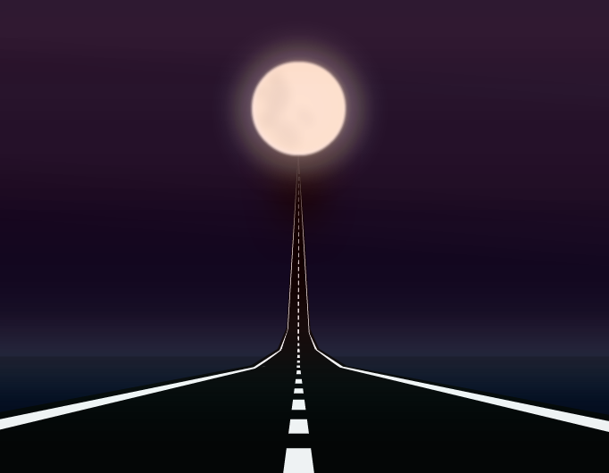 The road to the moon