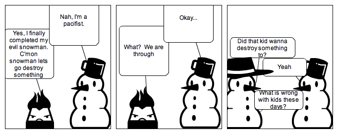 The Peaceful Snowman