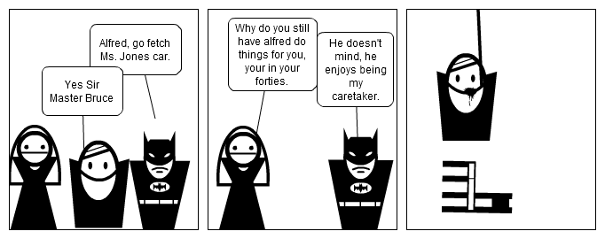 Batman too old for Alfred?
