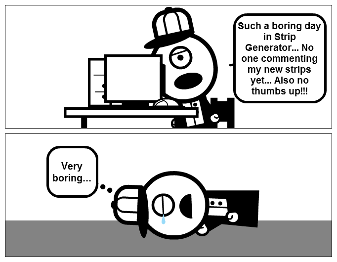A Boring Day In Strip Generator.