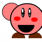 Kirby normal saludando