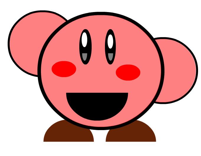 Kirby normal saludando