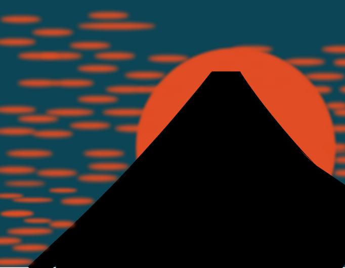 富士山の満月