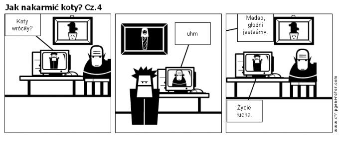 Jak nakarmić koty? Cz.4