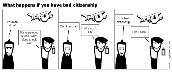 What happens if you have bad citizenship