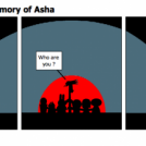 Friends and the memory of Asha
