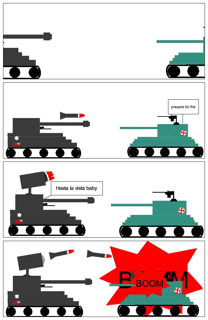 USA vs NAZI  (USA wins)