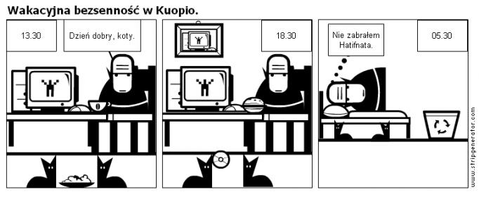 Wakacyjna bezsenność w Kuopio.