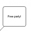 Never eat on free party.