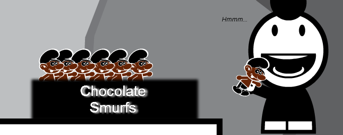 Chocolate Smurfs