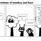 the unbelievably christmas of monkey and hare