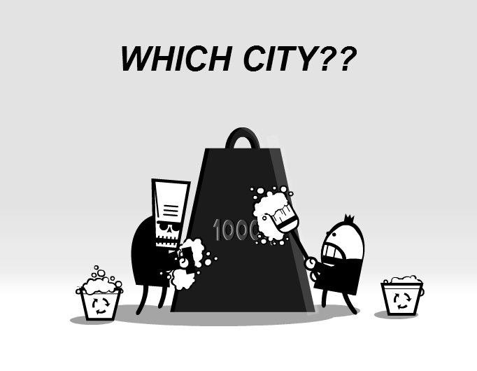 Which city? (3)