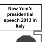 2013 Presidential Speech in Italy
