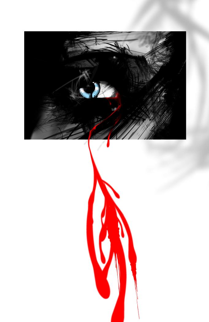 grown of blood...