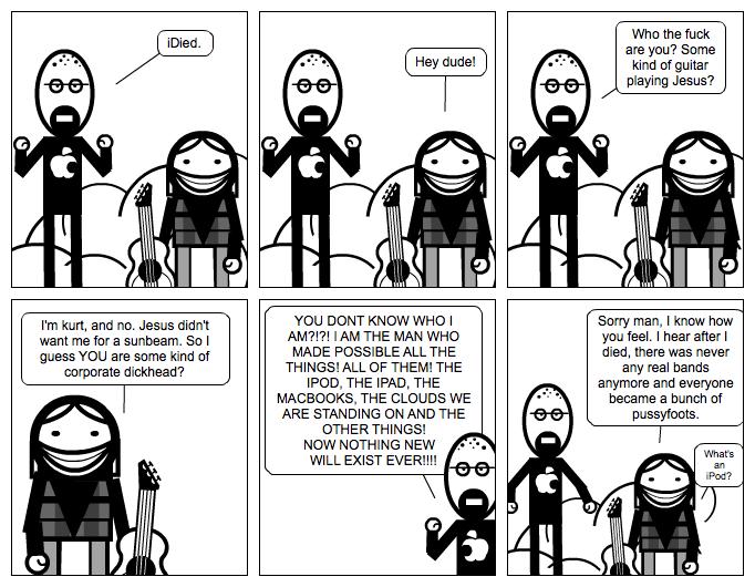 Jobs meets Cobain