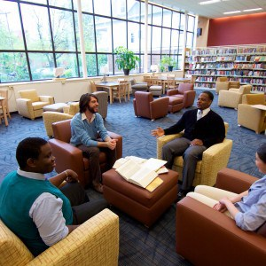 Students in Neil Hellman Library
