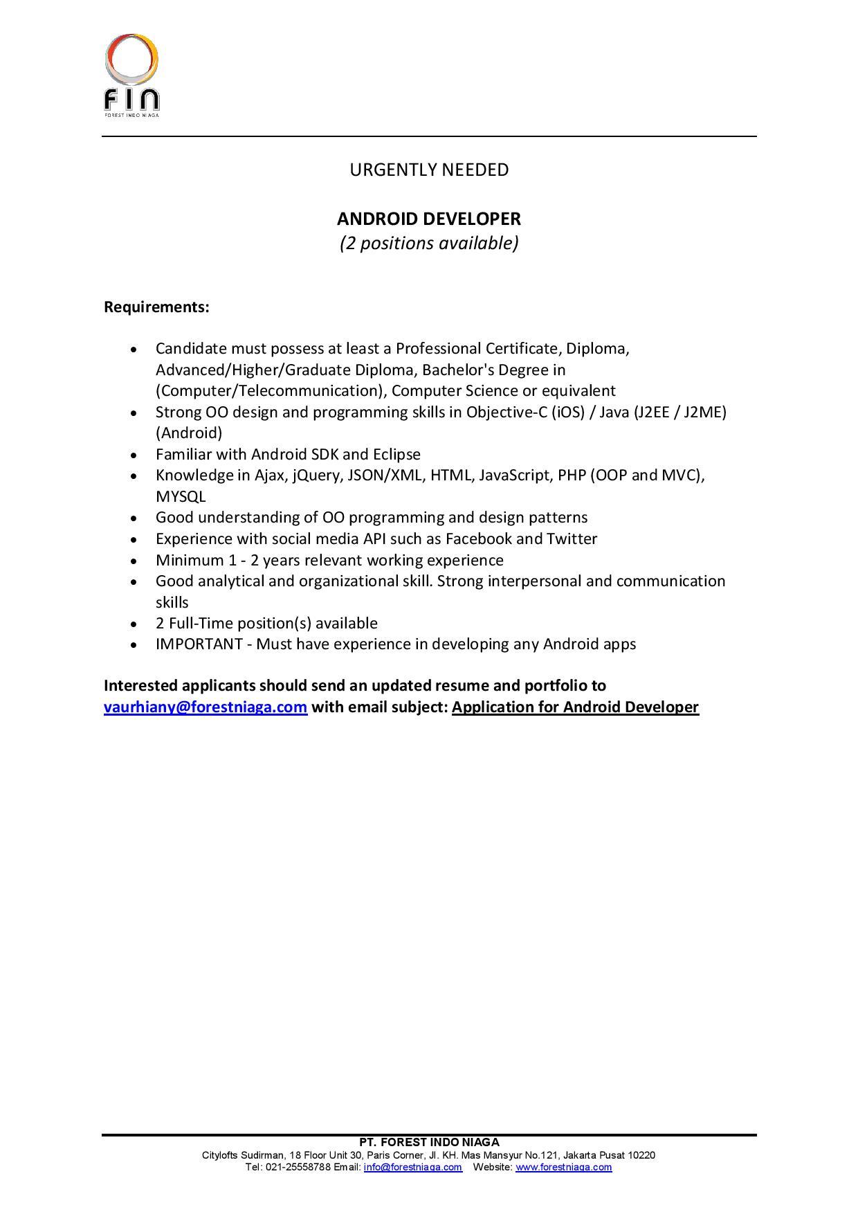 j2me developer resume