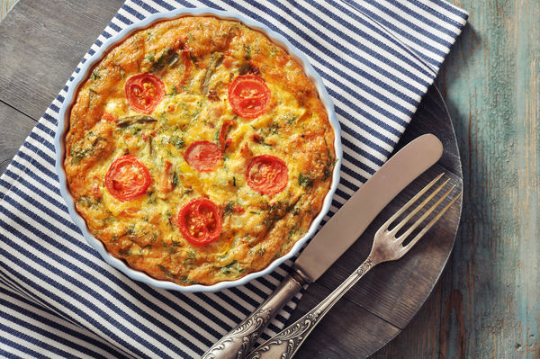 Mozzarella, Tomato, and Basil Frittata