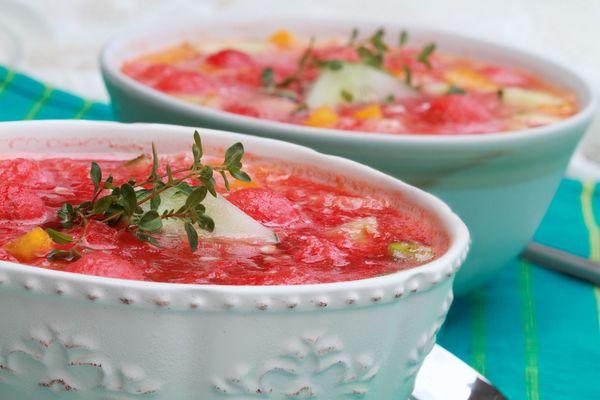 Summer Side: Watermelon Gazpacho