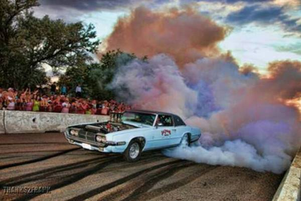sweet car burnout