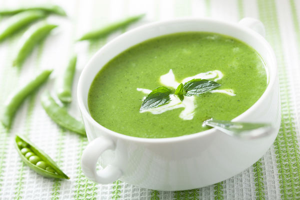 mint green pea soup