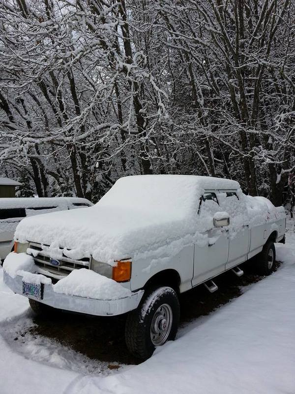 pickup in snow