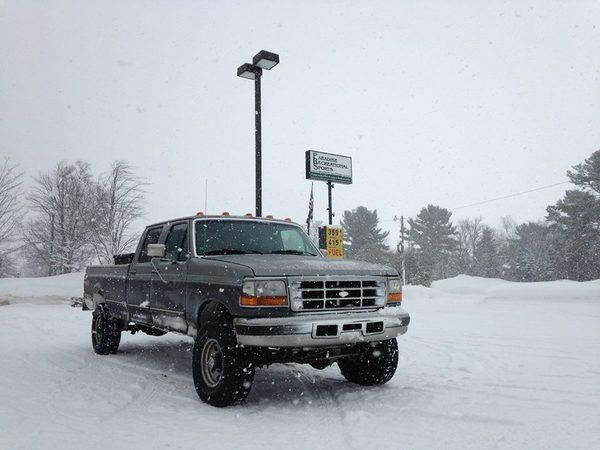 powerstroke in snow