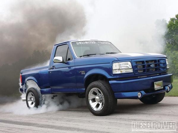 pickup truck burnout