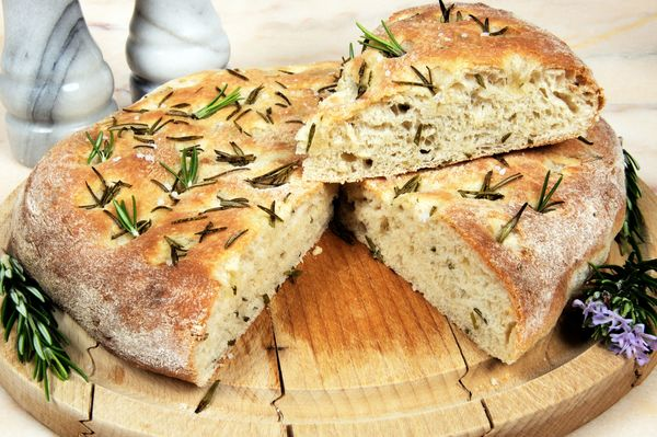 Italian Bread Recipe: Rosemary Focaccia