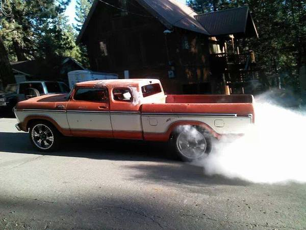 1977 pickup truck burnout
