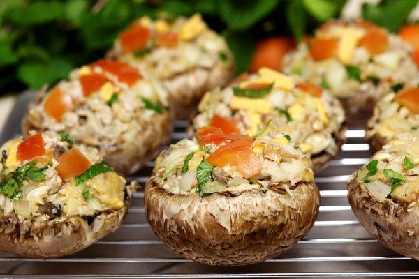 Appetizer Recipe: Stuffed Baby Portobello Mushrooms