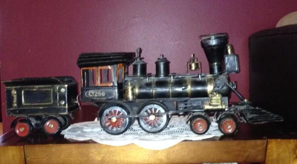 Old Toy Trains : Antique spotlight model and toy trains dusty old thing