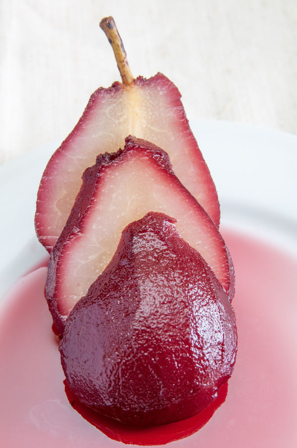 Dessert Recipe: Red Wine Poached Pears