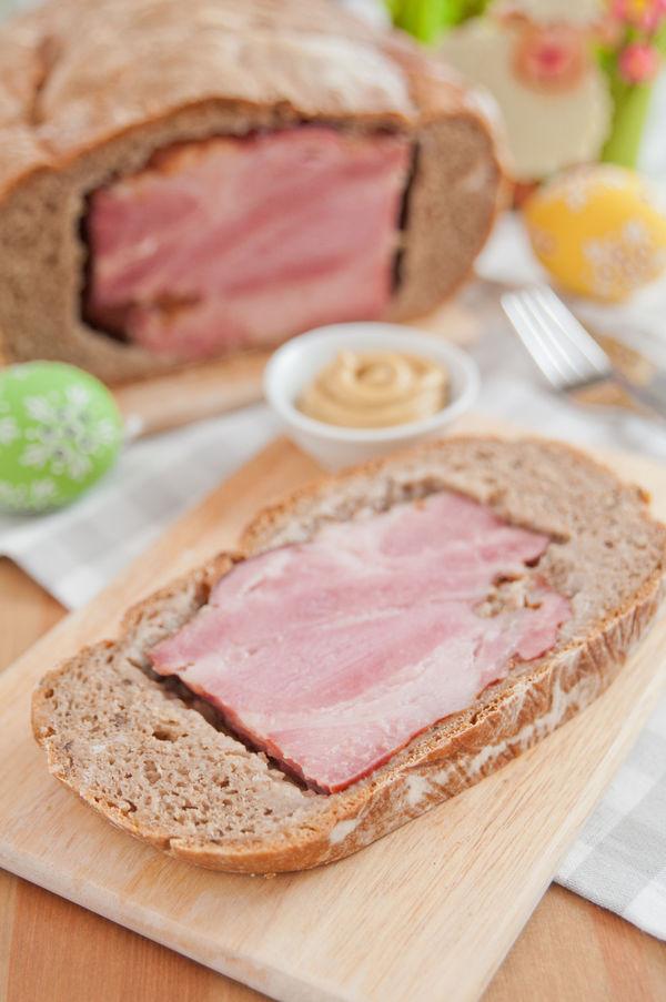 Classic German Recipe : Osterschinken or Ham in a Bread Blanket