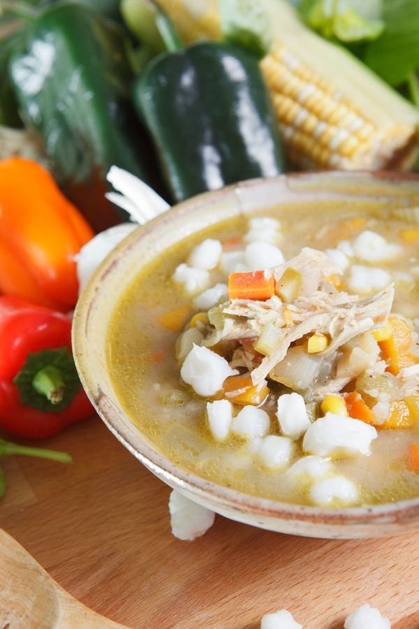 Slow Cooker Soup: Mexican Chicken Posole