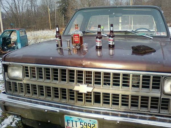 pickup and beer