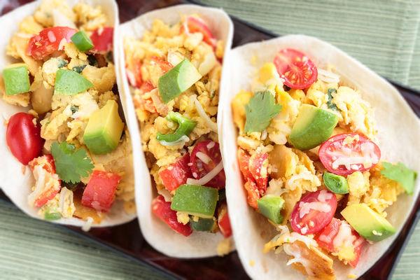 Breakfast Recipe: Tacos with Diced Avocado