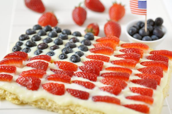 Red, White & Blue: Festive Berry Cake