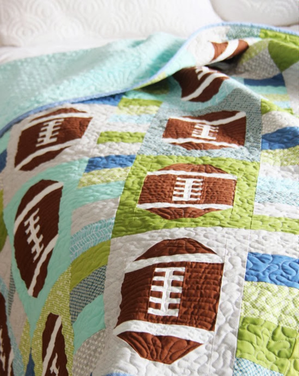 Quilt Patterns For Sports : 5 Sports Quilt Patterns 24 Blocks