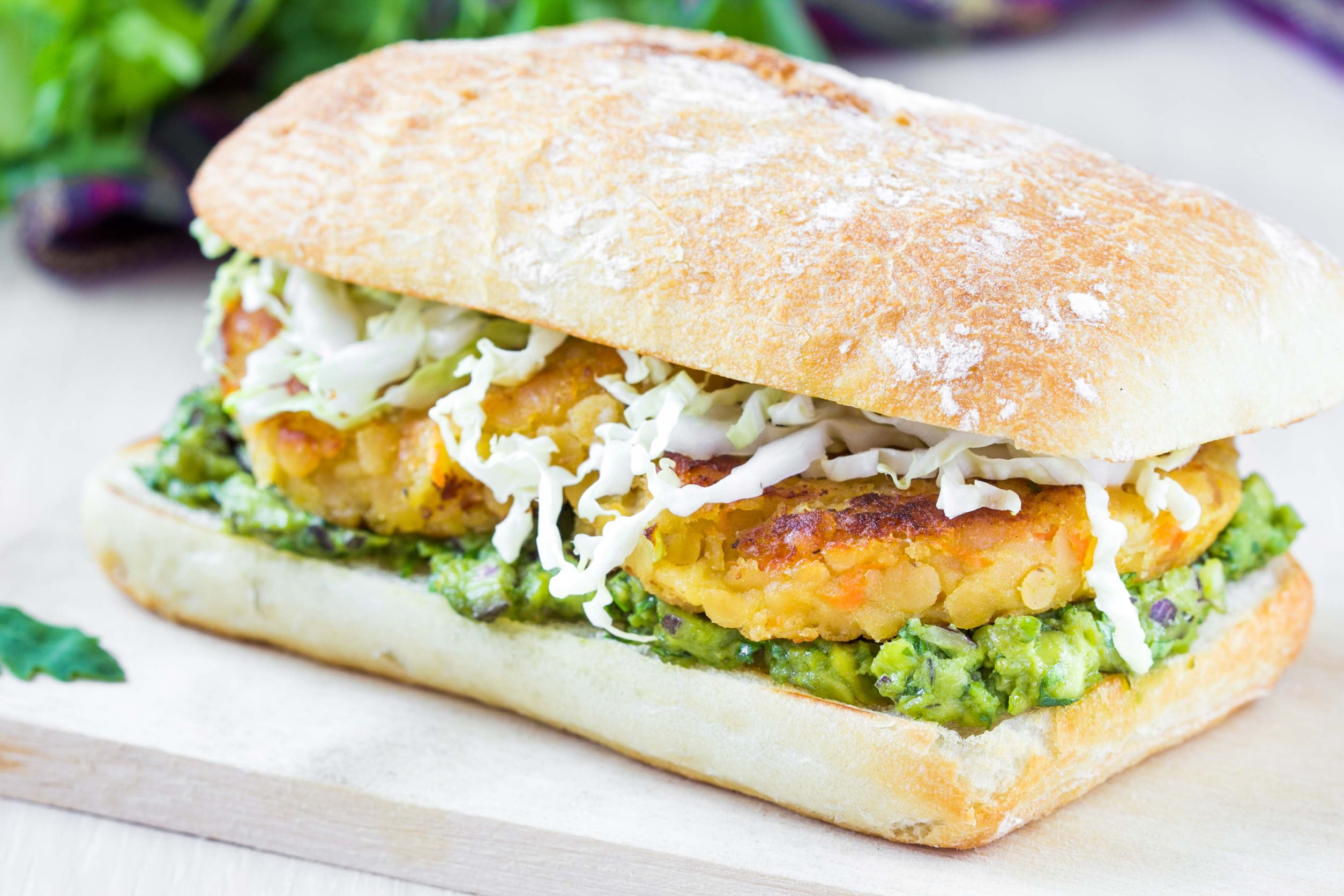 Hearty Vegetarian Recipe: Avocado Tofu Lentil Burgers - 12 Tomatoes