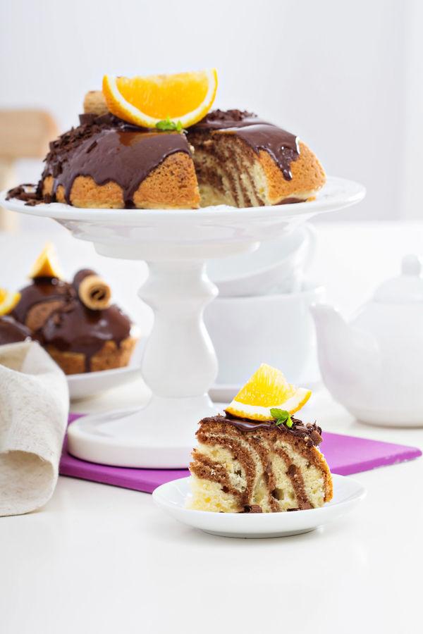 Dessert Recipe: Semi-Sweet Chocolate Orange Marble Cake