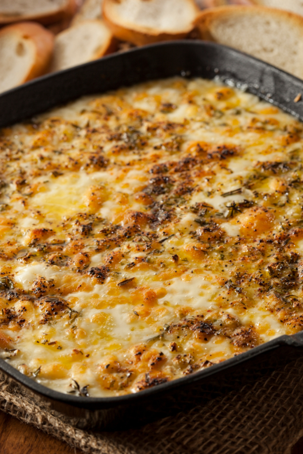 Appetizer Recipe: Baked Italian Fontina Cheese and Herb Dip