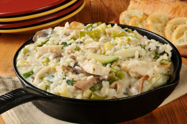 One-Pot Dinner Recipe: Creamy Chicken & Mushroom Risotto