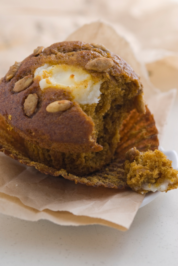 Seasonal Recipe: Pumpkin Cream Cheese Muffins