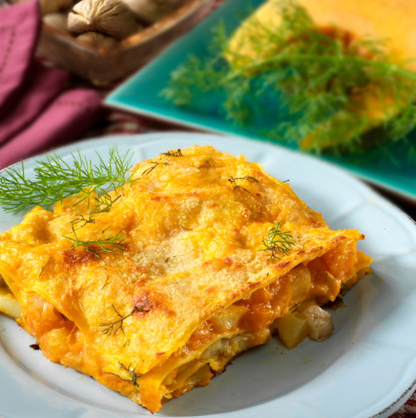 Fall Recipe: Pumpkin and Onion Lasagna